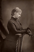 The Empress Eugenie (1826-1920) widow of Napoleon III of France. From 'The Cabinet Portrait Gallery' (London, 1890-1894).  Woodburytype after photograph by W & D Downey.