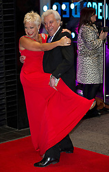 Lionel Blair and Denise Welch arrives for the Run For Your Wife - UK film premiere Odeon -Leicester Sq- London Brit comedy about a happily married man - with two wives, Tuesday  February 5, 2013. Photo: Andrew Parsons / i-Images