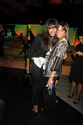 Left to right, NAOMI CAMPBELL and COUNTESS DEBONAIRE VON BISMARCK at the annual Serpentine Gallery Summer Party in Kensington Gardens, London on 9th September 2008.