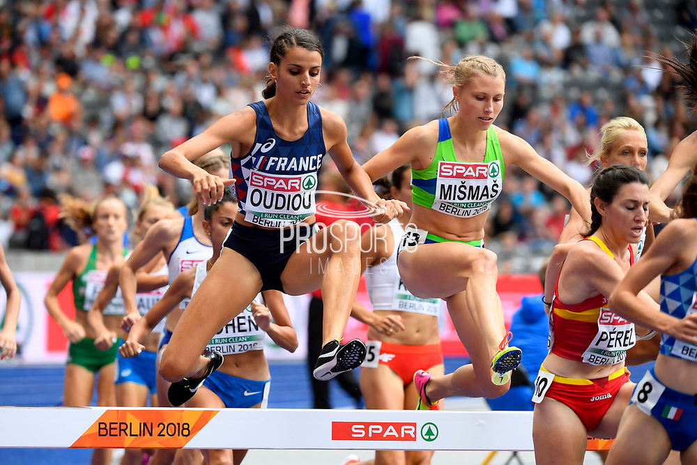 Emma Oudiou (FRA) competes in 3000m Steeplechase Women during the European Championships 2018, at Olympic Stadium in Berlin, Germany, Day 4, on August 10, 2018 - Photo Photo Julien Crosnier / KMSP / ProSportsImages / DPPI