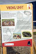 Viking Unst information board, Unst, Shetland Islands, Scotland