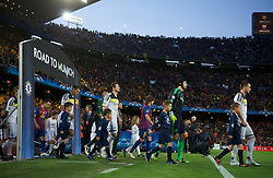 24.04.2012, Stadion Camp Nou, Barcelona, ESP, UEFA CL, Halblfinal-Rueckspiel, FC Barcelona (ESP) vs FC Chelsea (ENG), im Bild Chelsea's captain John Terry leads his side out to face FC Barcelona during the UEFA Championsleague Halffinal 2st Leg Match, between FC Barcelona (ESP) and FC Chelsea (ENG), at the Camp Nou Stadium, Barcelona, Spain on 2012/04/24. EXPA Pictures © 2012, PhotoCredit: EXPA/ Propagandaphoto/ David Rawcliff..***** ATTENTION - OUT OF ENG, GBR, UK *****