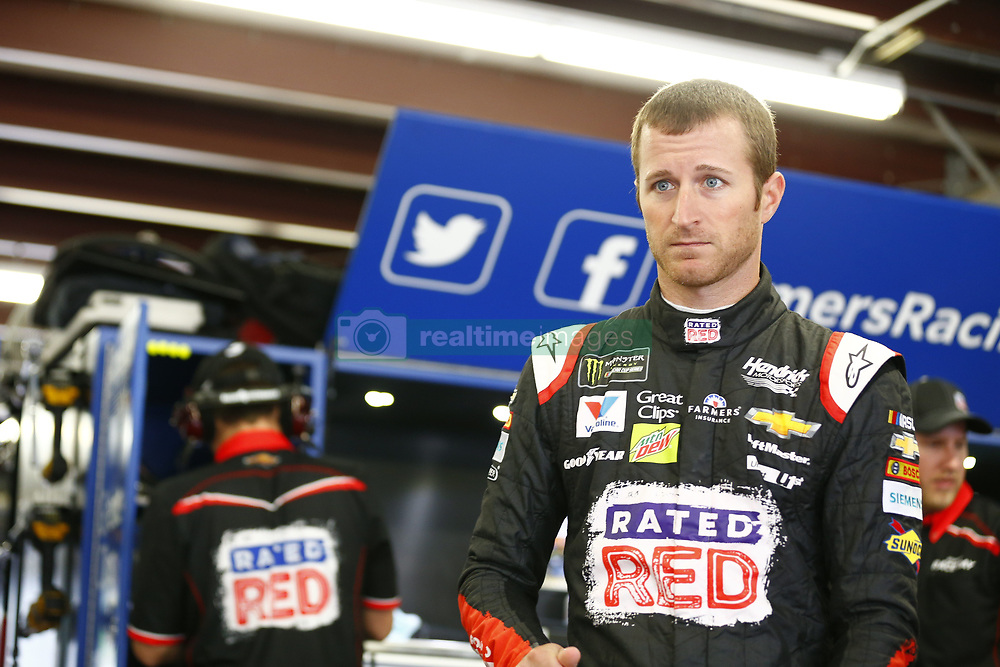 September 22, 2017 - Loudon, New Hampshire, United States of America - September 22, 2017 - Loudon, New Hampshire, USA: Kasey Kahne (5) hangs out in the garage during practice for the ISM Connect 300 at New Hampshire Motor Speedway in Loudon, New Hampshire. (Credit Image: © Justin R. Noe Asp Inc/ASP via ZUMA Wire)
