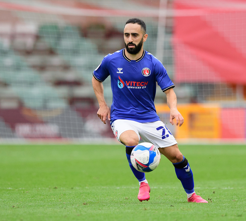 Charlton Athletic's Erhun Oztumer<br /> <br /> Photographer Chris Vaughan/CameraSport<br /> <br /> The EFL Sky Bet League One - Lincoln City v Charlton Athletic - Sunday 27th September, 2020 - LNER Stadium - Lincoln<br /> <br /> World Copyright © 2020 CameraSport. All rights reserved. 43 Linden Ave. Countesthorpe. Leicester. England. LE8 5PG - Tel: +44 (0) 116 277 4147 - admin@camerasport.com - www.camerasport.com