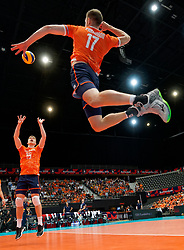 14-09-2019 NED: EC Volleyball 2019 Estonia - Montenegro, Rotterdam<br /> First round group D / Fans, support Orange