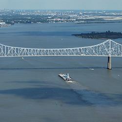Aerial Photograph of the Commodore Barry Bridge & Delaware River