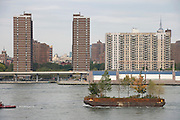 Robert Smithson's Floating Island travels around Manhattan 2005
