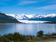 View of Brazo Rico and the Perito Moreno Glacier, Los Glaciares National Park, near El Calafate, Santa Cruz Province, Argentina.