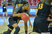 March 17, 2016: Arizona State Sun Devils guard Armani Hawkins (50) drives into the lane during the first practice day of the 2016 NCAA Division I Women's Basketball Championship first round in Tempe, Ariz.