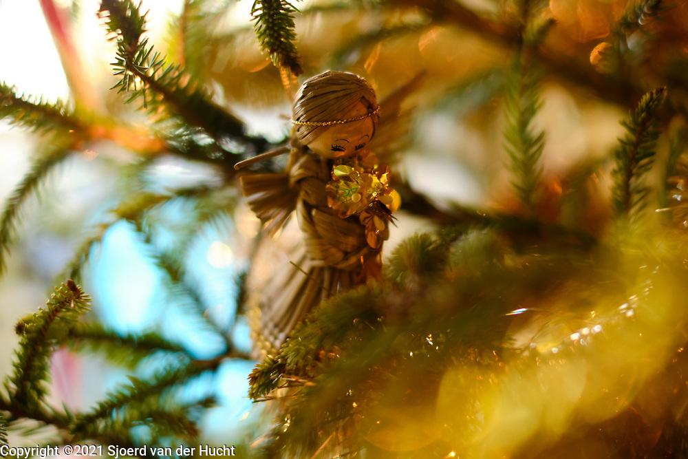 Versierde kerstboom tijdens de kerstdagen | Decorated Christmas tree during the Christmas season