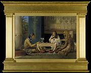 Egyptian Chess Players'.  Lawrence Alma-Tadema (1836-1912) Dutch-born English artist. Oil on canvas.