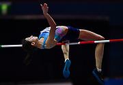 Mariya Lasitskene (RUS) wins the women's high jump atf 6-7 (2.01m) during the IAAF World Indoor Championships at Arena Birmingham in Birmingham, United Kingdom on Thursday, Mar 1, 2018. (Steve Flynn/Image of Sport)