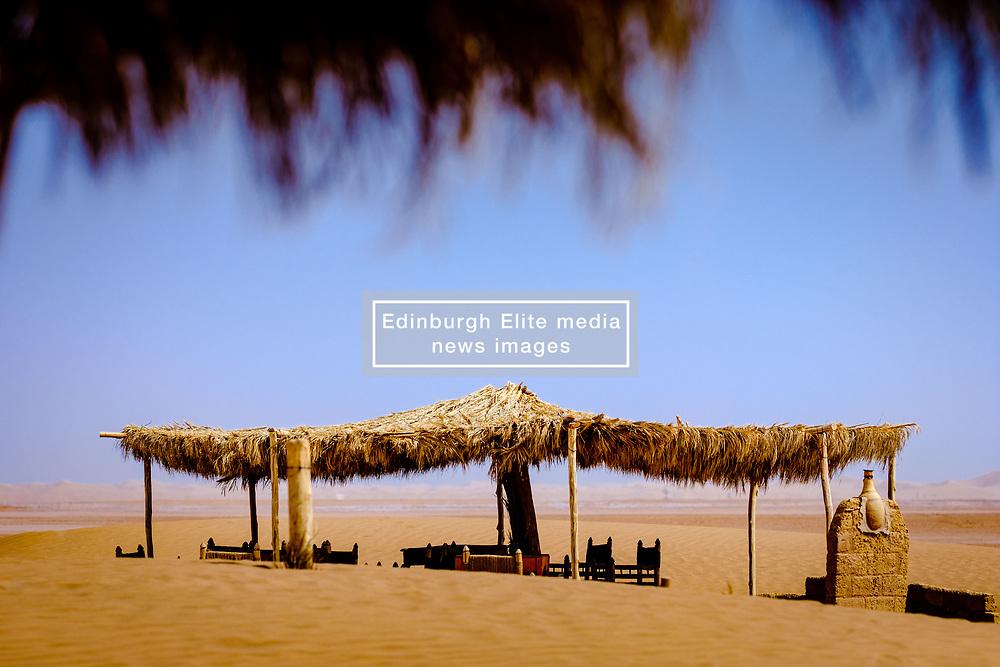 Cafe in Lake Iriki in the Moroccan Sahara, Souss-Massa territory, Morocco<br /> <br /> (c) Andrew Wilson | Edinburgh Elite media