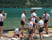 Aiguebelette, FRANCE. GBR M8+. Cool down after the Sunday, Final at the   Sunday, Final at the  2014 FISA World Cup II, 14:28:56  Sunday  22/06/2014. [Mandatory Credit; Peter Spurrier/Intersport-images]