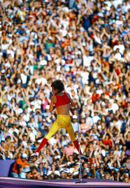 Limited Edition of 25 All Sizes Included. Mick leaps high while preforming at Folsom Stadium in Boulder Colorado in 1981