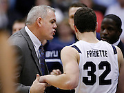 BYU head coach Dave Rose, left congratulates Jimmer Fredette as he heads to the bench late in the second half of an NCAA college basketball game against Arizona, Saturday Dec. 11, 2010 in Salt Lake City. Fredette scored 33 points in BYU's 87-65 win. (AP Photo/Colin E Braley)
