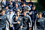 Argentina players heading into a training session, during an Argentina training session at university oval in Dunedin, New Zealand. IRB Rugby World Cup 2011. Monday 5 September 2011. New Zealand. Photo: Richard Hood/photosport.co.nz