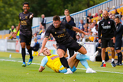Will Vaulks of Rotherham United attempts to tackle Calum Butcher of Mansfield Town - Mandatory by-line: Ryan Crockett/JMP - 28/07/2018 - FOOTBALL - One Call Stadium - Mansfield, England - Mansfield Town v Rotherham United - Pre-season friendly