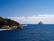 Sugarloaf Island  in the distance. View of Poor Knights Islands, summer, Northland, New Zealand