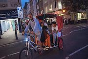 Pedicab, Covent Garden, . West End, t. London. 28 July 2016