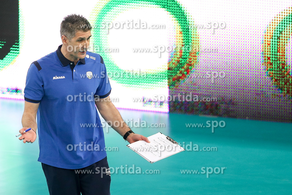 Slobodan Kovac, head coach of Slovenia during volleyball match between National teams of Slovenia and Belgium in 2nd Round of 2018 FIVB Volleyball Men's World Championship qualification, on May 28, 2017 in Arena Stozice, Ljubljana, Slovenia. Photo by Morgan Kristan / Sportida