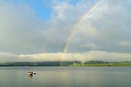 Oceania, New Zealand, Aotearoa, South Island, Southland, Te Anau, Lake Te Anau, rainbow