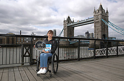 Overall winner of the wheelchair women's Abbott World Marathon Majors Series Switzerland's Manuela Schar during a photocall outside Tower Bridge, London. PRESS ASSOCIATION Photo. Picture date: Monday April 23, 2018. See PA story ATHLETICS London. Photo credit should read: John Walton/PA Wire