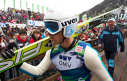 Vincent Descombes Sevoie of France during Flying Hill Individual Qualifications at 1st day of FIS Ski Jumping World Cup Finals Planica 2011, on March 17, 2011, Planica, Slovenia. (Photo by Vid Ponikvar / Sportida)