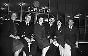 Inaugural Aer Lingus Dublin - Paris - Zurich - Rome flight from Dublin Airport. Eric Jackson pictured with his flight crew.<br />