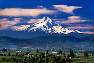 View of Mt. Hood and Hood River valley, Hood River county, Oregon
