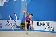 Majerowska Maja during qualifying at ribbon in Pesaro World Cup at Adriatic Arena on 27 April 2013.<br /> Maja is a Polish individual rhythmic gymnast born in Breslau on December 14, 1995.