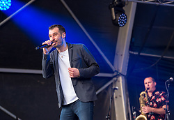 © Licensed to London News Pictures. 27/06/2019. Bristol, UK. THE CAT EMPIRE in concert at the Bristol Sounds 2019 series of concerts at the Lloyds Amphitheatre on Bristol's Harbourside, on the first night of their European tour. Photo credit: Simon Chapman/LNP.