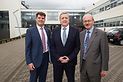 11/07/2017  REPRO FREE:    Dr Rick officer VP for research GMIT, Pat Breen is Minister of State  Department of Enterprise and Innovation,  Mr George McCourt Head of innovation GMIT Photo:Andrew Downes, xposure .