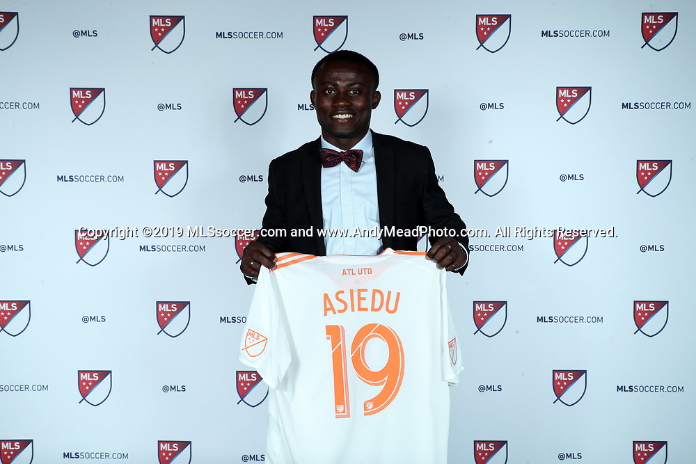 CHICAGO, IL - JANUARY 11: Anderson Asiedu was taken with the 24th overall pick by Atlanta United FC. The MLS SuperDraft 2019 presented by adidas was held on January 11, 2019 at McCormick Place in Chicago, IL.