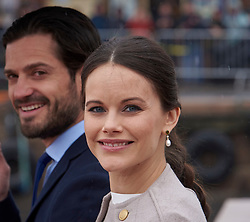 Norwegian King Harald and Queen Sonja celebrate their 80th anniversary at the same time, with 2 days' festivals in Oslo. Day 2 Royal guests arrive at Oslo harbor for lunch at the Royal ship Norway. 10 May 2017 Pictured: Princess Sofia and Prince Carl Philip of Sweden. Photo credit: hbgbild / MEGA TheMegaAgency.com +1 888 505 6342
