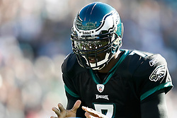 Philadelphia Eagles quarterback Michael Vick #7 takes a snap during the NFL game between the Washington Redskins and the Philadelphia Eagles on November 29th 2009. The Eagles won 27-24 at Lincoln Financial Field in Philadelphia, Pennsylvania. (Photo By Brian Garfinkel)