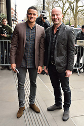 © Licensed to London News Pictures. 08/03/2016. JERMAINE JENAS and ALAN SHEARER arrive for the TRIC Awards. The Television and Radio Industries Club's annual awards ceremony, honour's the best performers and programmes  of the last year .London, UK. Photo credit: Ray Tang/LNP