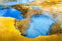 Iceland. Geothermal activity at Namafjall close to Krafla. Mudpools.