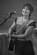 Anais Mitchell performing, Sunday session of the Sisters Folk Festival.