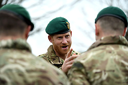 February 20, 2019 - Plymouth, United Kingdom - Image licensed to i-Images Picture Agency. 20/02/2019. Plymouth, United Kingdom.  Prince Harry, The Duke of Sussex, Captain General Royal Marines, visits 42 Commando Royal Marines  in Plymouth, United Kingdom. (Credit Image: © Pool/i-Images via ZUMA Press)