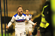 GOAL Callum Camps celebrates scoring the winner - first win at Southend since 1985 for Rochdale  during the EFL Sky Bet League 1 match between Southend United and Rochdale at Roots Hall, Southend, England on 22 December 2018.