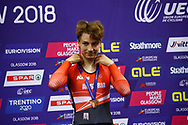 Men Points Race, Stefan Matzner (Austria) bronze medal, during the Track Cycling European Championships Glasgow 2018, at Sir Chris Hoy Velodrome, in Glasgow, Great Britain, Day 4, on August 5, 2018 - Photo Luca Bettini / BettiniPhoto / ProSportsImages / DPPI - Belgium out, Spain out, Italy out, Netherlands out -