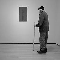 """Ornament, I (1948) Barnett Newman, MoMA"