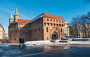 Barbakan w Krakowie, Polska<br /> Barbican in Cracow, Poland