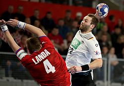 19.01.2018, Varazdin Arena, Varazdin, CRO, EHF EM, Herren, Deutschland vs Tschechien, Hauptrunde, Gruppe 2, im Bild Steffen Fath. // during the main round, group 2 match of the EHF men's Handball European Championship between Germany and Czech Republic at the Varazdin Arena in Varazdin, Croatia on 2018/01/19. EXPA Pictures © 2018, PhotoCredit: EXPA/ Pixsell/ Igor Kralj<br /> <br /> *****ATTENTION - for AUT, SLO, SUI, SWE, ITA, FRA only*****