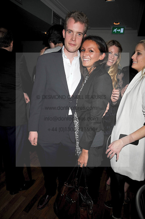 FRANCOIS O'NEILL and ZOE SHEPHERD at the opening of the Brompton Bar & Grill, 243 Brompton Road, London SW3 on 11th March 2009.