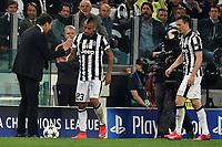 Massimiliano Allegri, Arturo Vidal Juventus <br /> Torino 14-04-2015 Juventus Stadium Football Uefa Champions League 2014/2015 Juventus - Monaco  . Foto Andrea Staccioli / Insidefoto