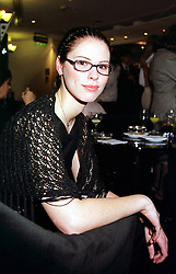 MISS PATRINA KHASHOGGI illegitimate daughter of disgraced MP Jonathan Aitken, at a party in London on 14th March 2000.OCB 50