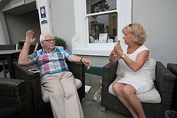 UK ENGLAND BOSTON 7SEP16 - UKIP Boston Borogh Councillor Yvonne Stevens (70) and local UKIP party representative Brian Rush (66) at Boston town centre.<br /> <br /> jre/Photo by Jiri Rezac<br /> <br /> © Jiri Rezac 2016