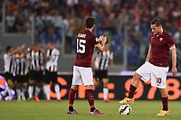 Delusione Miralem Pjanic, Francesco Totti Roma Dejection <br /> Roma 17-05-2015 Stadio Olimpico Football Calcio Serie A 2014/2015 AS Roma - Udinese . Foto Andrea Staccioli / Insidefoto